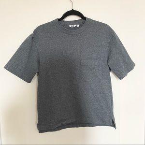 Uniqlo Structured Gray Cotton Shirt